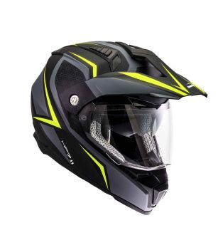 Casco HP7.11 Cut Nero/Antracite/Giallo Fluo