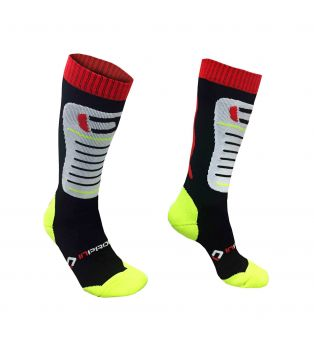Calze Compression GP Racing Long Nero/Rosso/Bianco