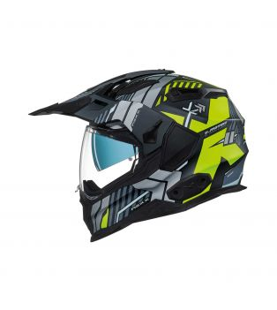Casco Integrale X.WED 2 Wild Country Nero/Giallo Fluo