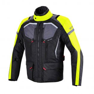 Giacca Touring Wander Waterproof Nero/Antracite/Giallo