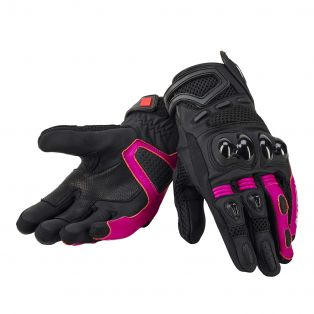 Guanti gear air lady CEE pelle NERO / FUCHSIA / NERO