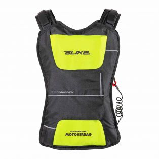 Zaino Airbag A-Bag Back Link Nero/Giallo Fluo